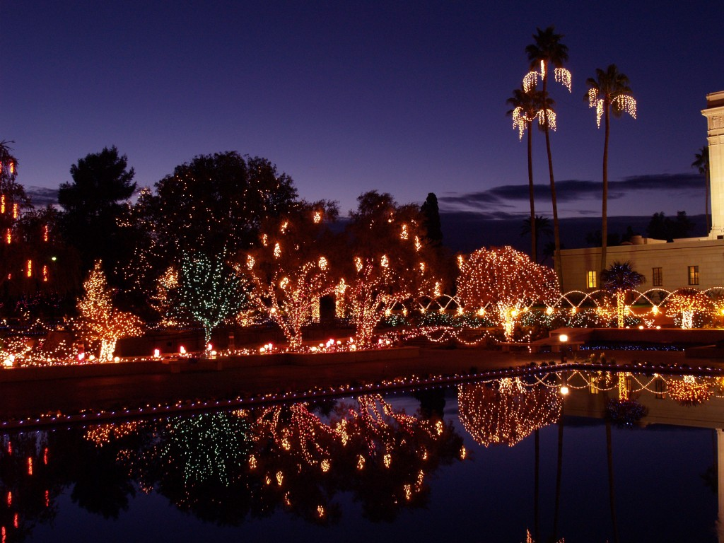 Christmas lights photos christmas lights on the mesa for Pool fill in mesa az